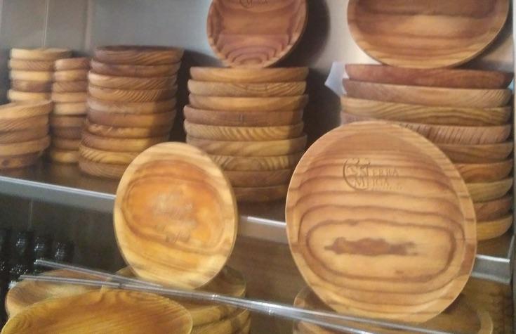 platos de madera para el pulpo